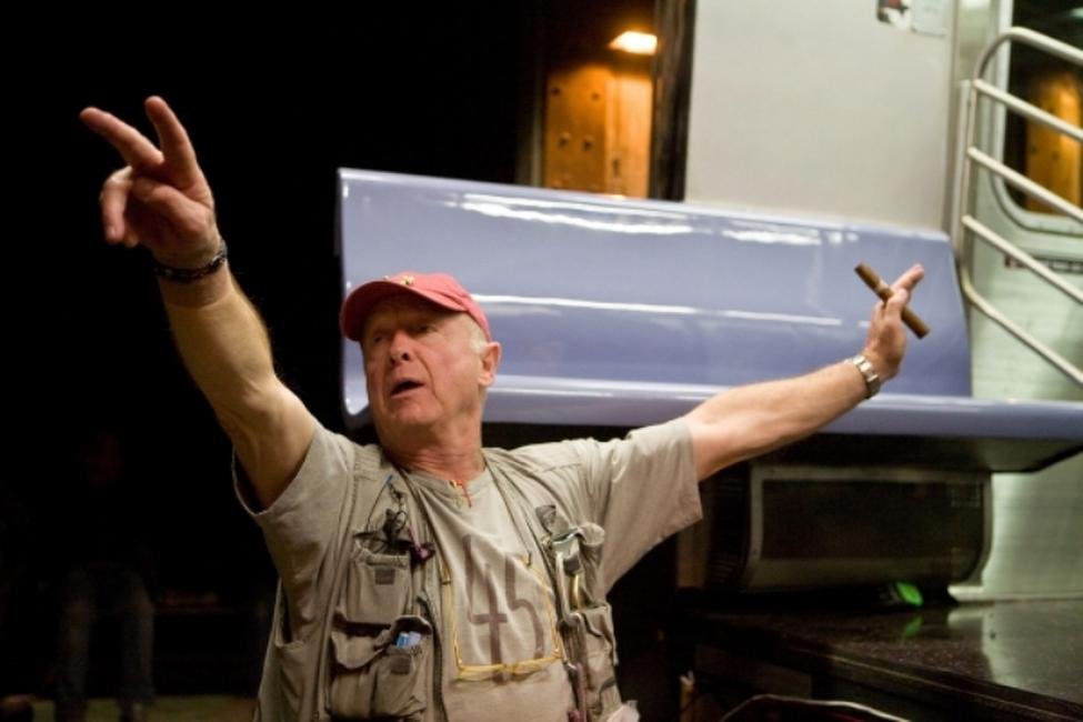 Director Tony Scott on the set of