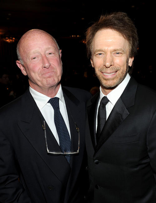 Tony Scott and producer Jerry Bruckheimer at the BAFTA Los Angeles 2010 Britannia Awards in California.