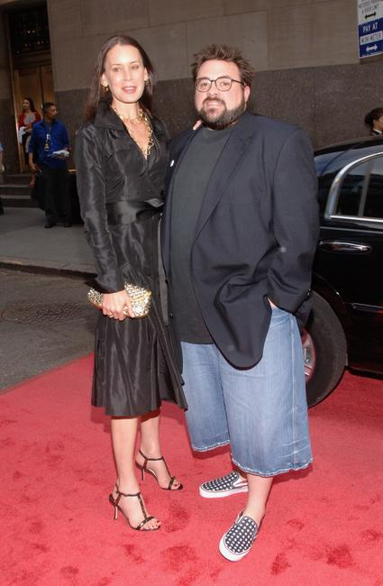Kevin Smith and guest at the premiere of