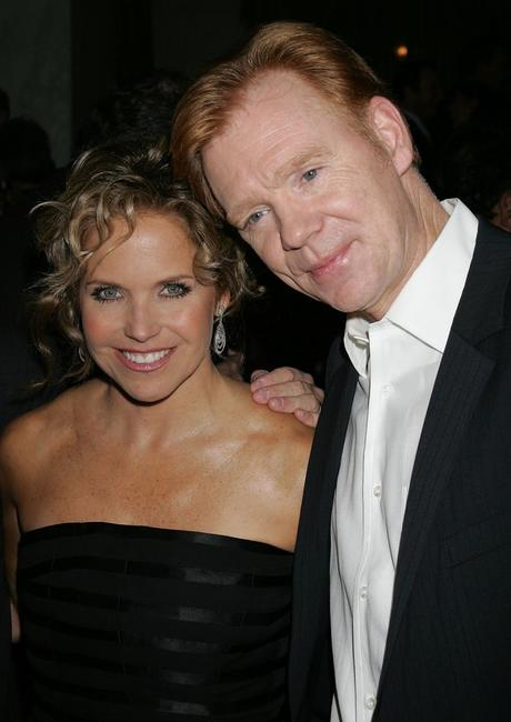 David Caruso and Katie Couric at the Museum of Television and Radio's annual Los Angeles gala.