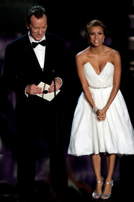 James Woods and Eva Longoria at the 58th Annual Primetime Emmy Awards.