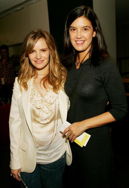 Phoebe Cates and Jennifer Jason Leigh at