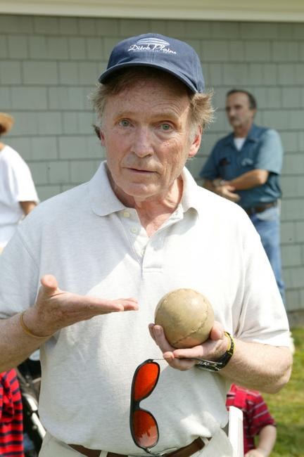 Dick Cavett at the 2003 Artists and Writers Softball Game.