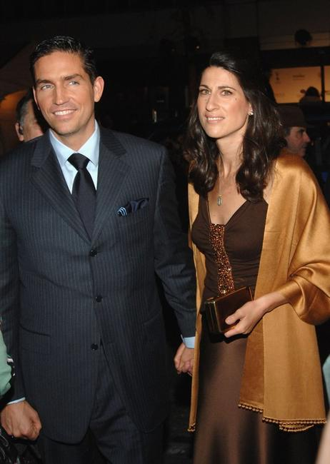 James Caviezel and his wife Kerri Caviezel at the world premiere of