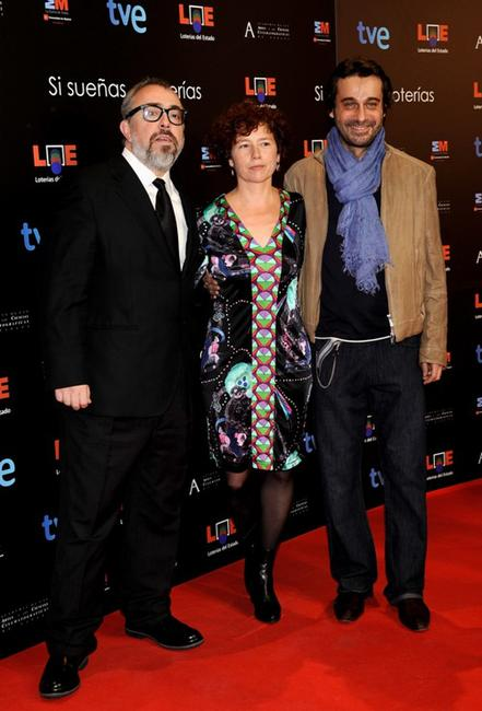 Alex de la Iglesia, Iciar Bollain and Jordi Molla at the Goya Cinema Awards.