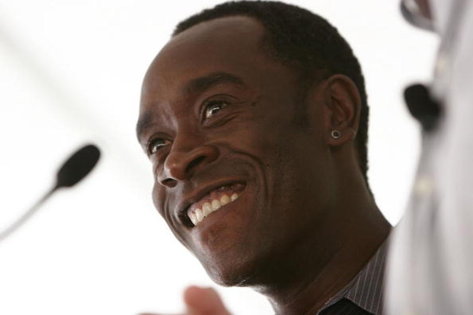 Don Cheadle at in a conversation with co-writer John Prendergast to discuss their book