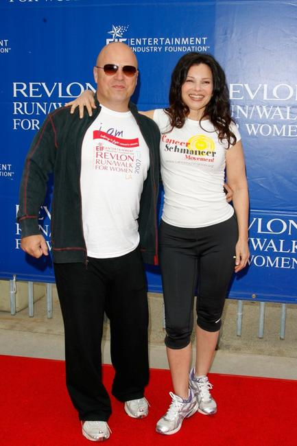 Michael Chiklis and Fran Drescher at the Revlon Run/Walk for women held at Los Angeles Memorial Coliseum.