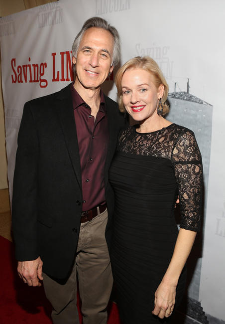 Tom Amandes and Penelope Ann Miller at the California premiere of