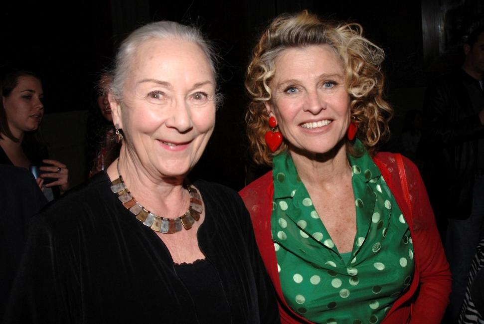 Julie Christie and Rosemary Harris at the Cinema Society and The Wall Street Journal after party for