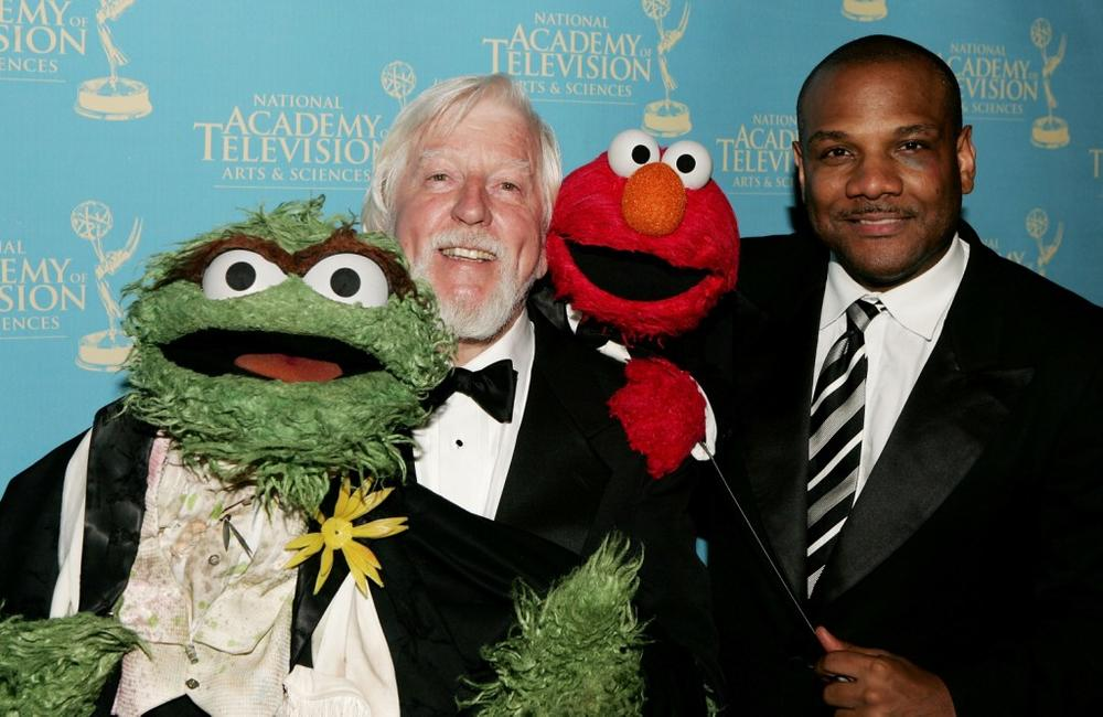 Caroll Spinney and Kevin Clash at the 34th Annual Daytime Creative Arts and Entertainment Emmy Awards.