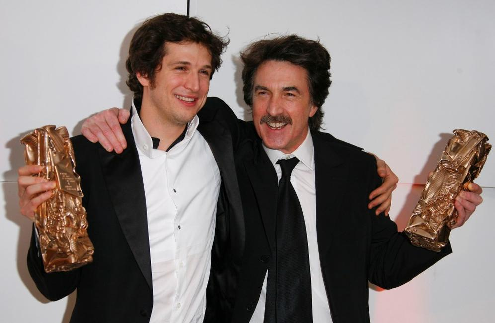 Francois Cluzet and Guillaume Canet at the 32nd Cesars film awards ceremony.