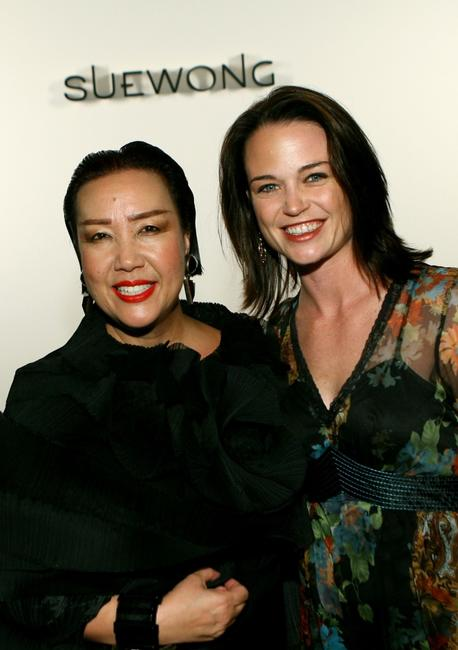 Sue Wong and Sprague Grayden at the Sue Wong Spring 2008 fashion show during the Mercedes Benz Fashion Week.