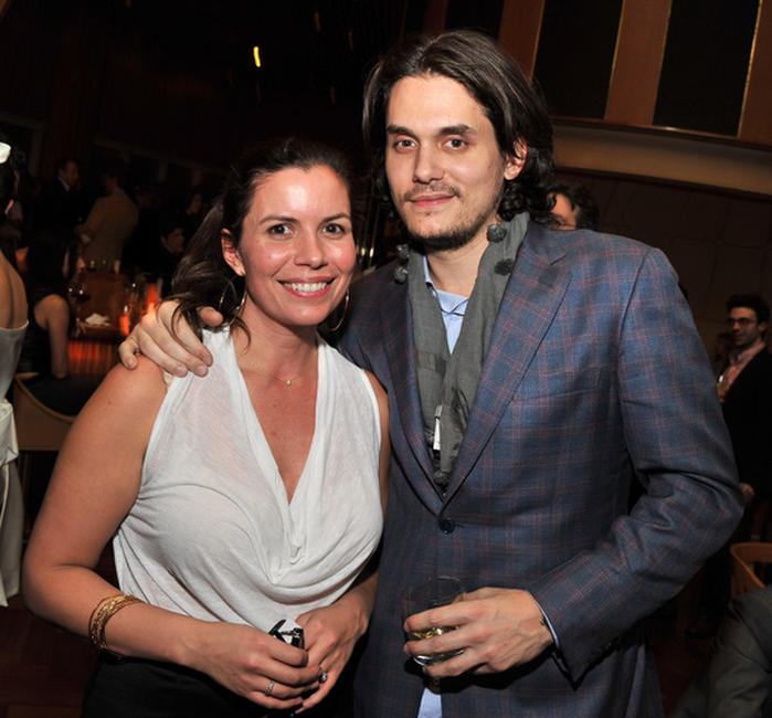 Keleigh Thomas and John Mayer at the after party of the New York premiere of