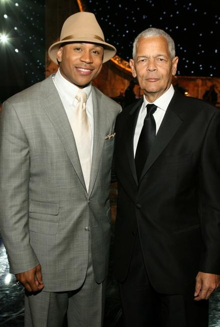 LL Cool J and Julian Bond at the 38th annual NAACP Image Awards.