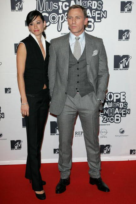Satsuki Mitchell and Daniel Craig at the 13th annual MTV Europe Music Awards 2006 in Denmark.