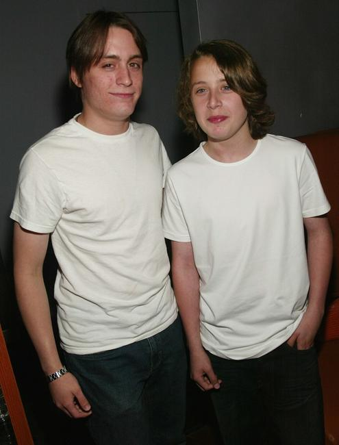 Kieran Culkin and his brother Rory Culkin at the New York premiere after-party of