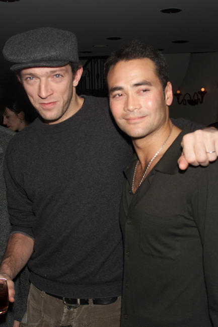 Mark Dacascos and Vincent Cassel at the private reception with the cast of