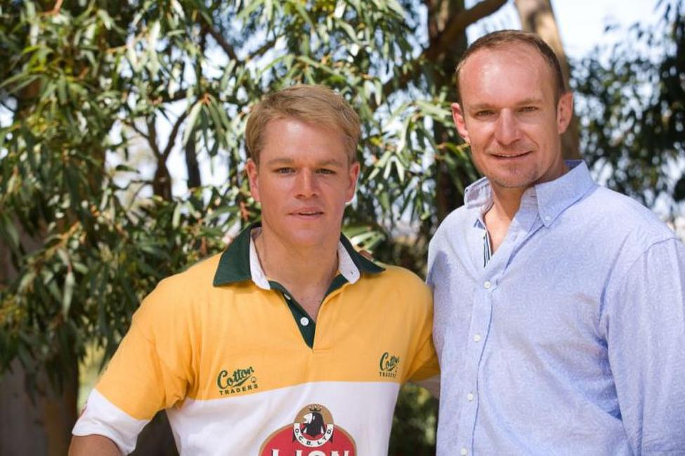 Matt Damon and Francois Pienaar in