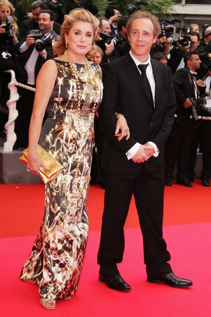 Catherine Deneuve and Director Arnaud Desplechin at the Palme d'Or Closing Ceremony during the 61st International Cannes Film Festival.