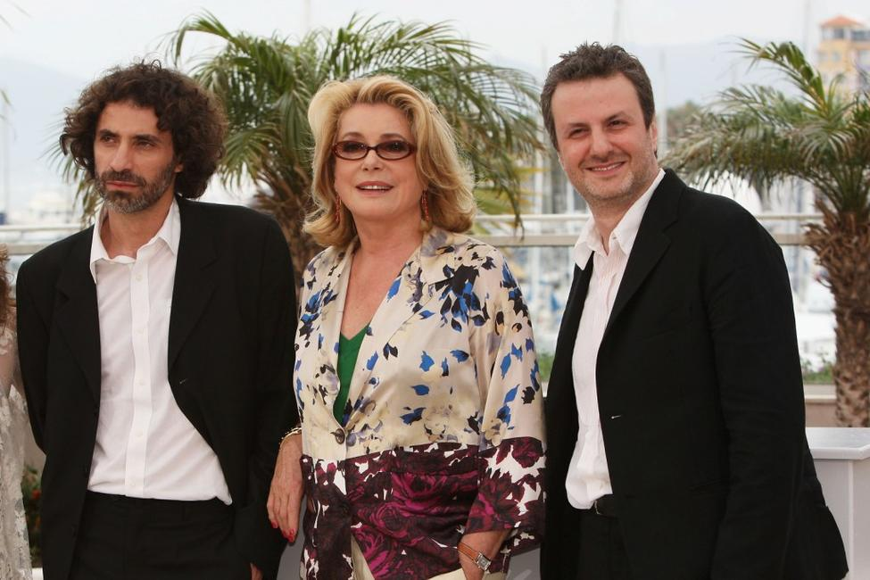 Rabih Mroue, Catherine Deneuve and Director Khalil Joreige at the photocall of