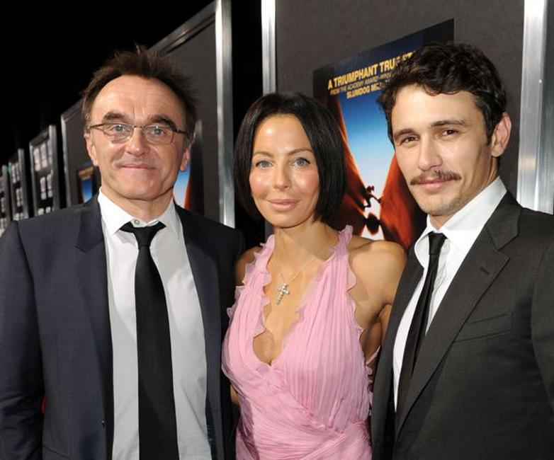 Danny Boyle, Lisa Maria Falcone and James Franco at the premiere of