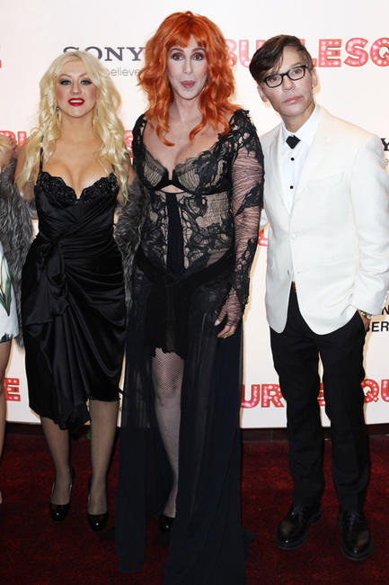 Christina Aguilera, Cher and Steve Antin at the UK premiere of