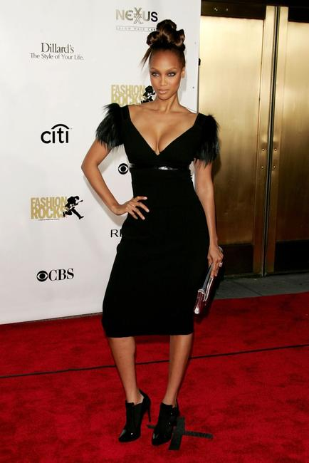 Tyra Banks at the Conde Nast Media Groups Fourth Annual Fashion Rocks Concert.
