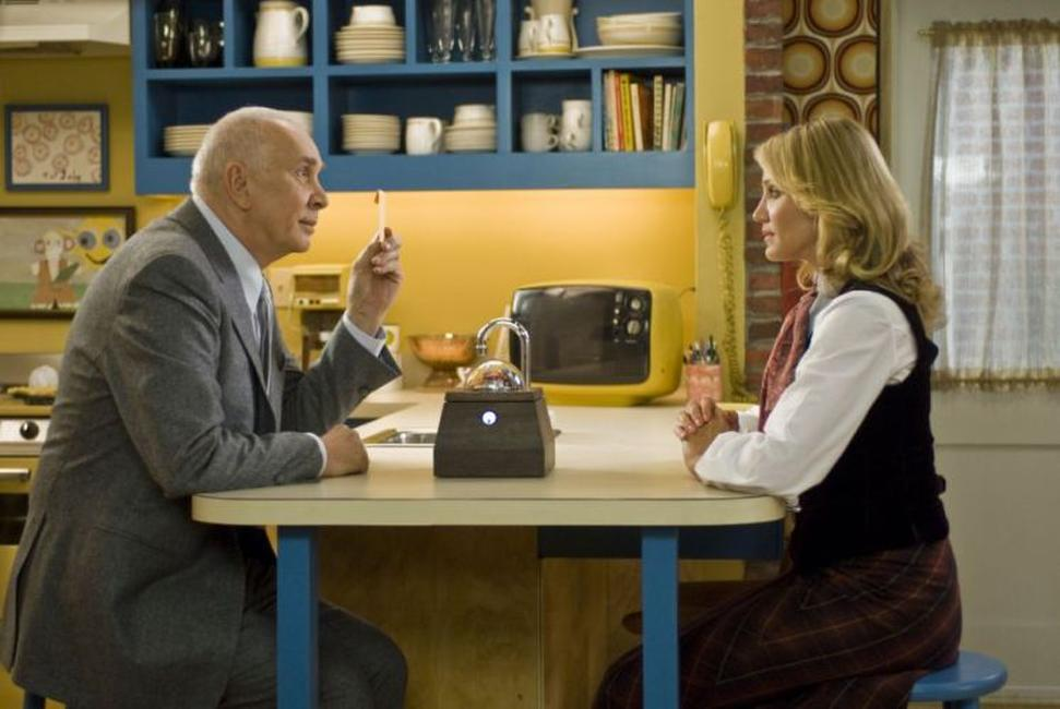 Frank Langella as Arlington Steward and Cameron Diaz as Norma Lewis in