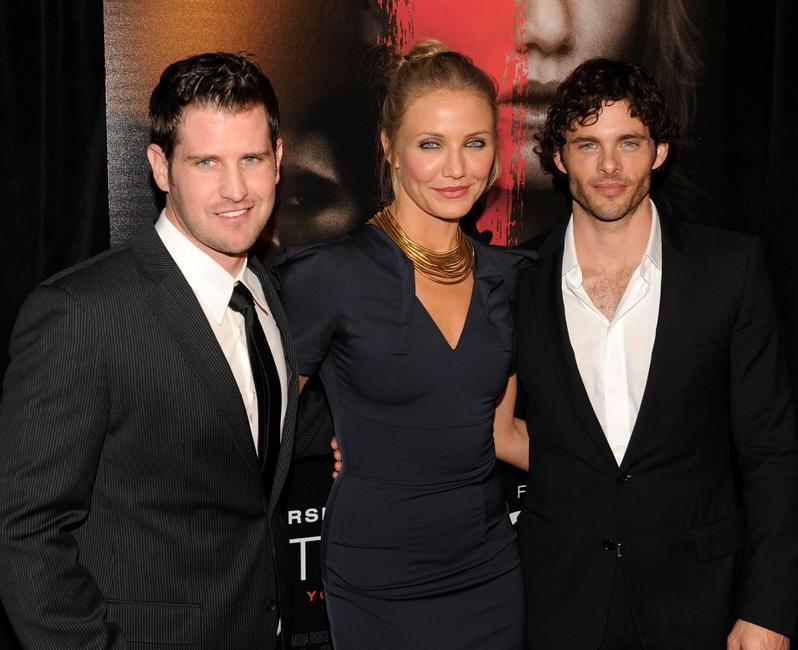 Richard Kelly, Cameron Diaz and James Marsden at the New York premiere of