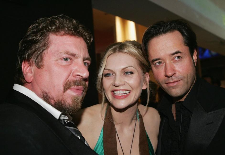 Armin Rohde, Anna Loos and Jan Josef Liefers at the after party of the Goldene Kamera Awards.