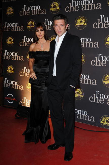 Monica Bellucci and Vincent Cassel at the L'Uomo Che Ama Party during the 3rd Rome International Film Festival.