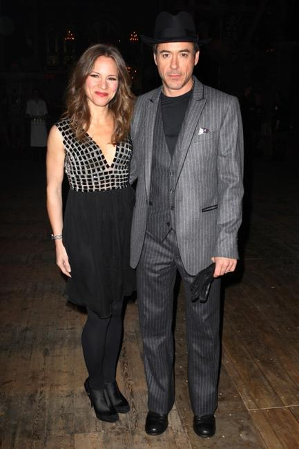 Susan Levin and Robert Downey, Jr. at the after party of the London premiere of