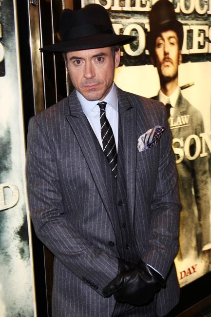Robert Downey, Jr. at the London premiere of