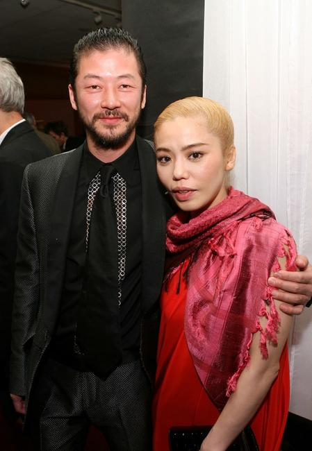 Tadanobu Asano and Chara at the Oscar Foreign Language Film Certificate of Nomination Presentation.