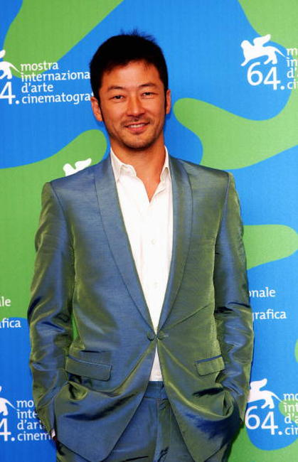 Tadanobu Asano at the 64th Annual Venice Film Festival.