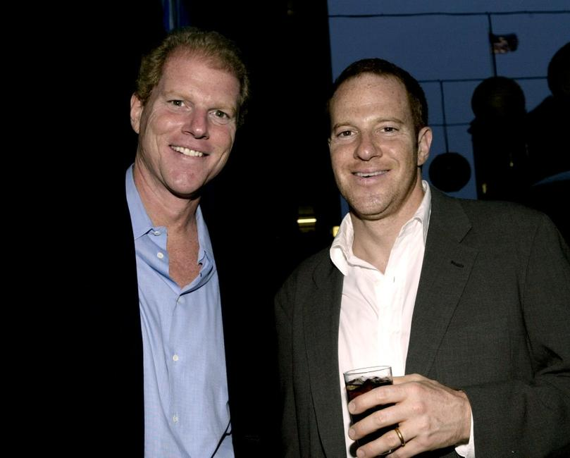 Noah Emmerich and his brother Toby Emmerich at the party for the 2004 Showmen of the Year award.