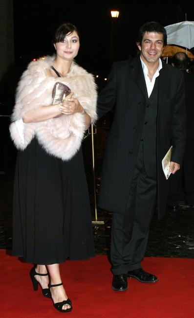 Pierfrancesco Favino and wife at the Italian Film Academy's 50th David di Donatello Awards Ceremony.