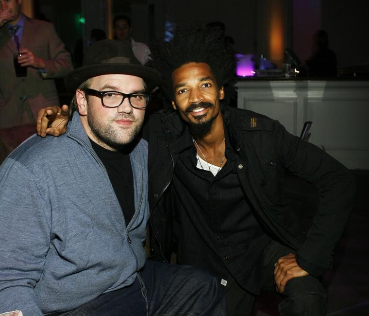 Ethan Suplee and Eddie Steeples at the Spring/Summer 08 J'aime Collection fashion show cocktail party.