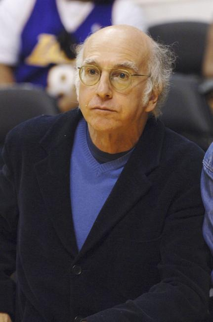 Larry David at the Los Angeles Lakers-Phoenix Suns playoff game.