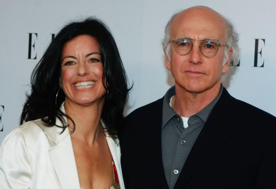 Larry David and Laurie David at the Launch of ELLE Magazines Premiere Green Issue.