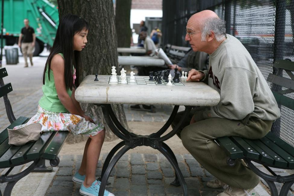 Willa Cuthrell Tuttleman as Chess Girl and Larry David as Boris in
