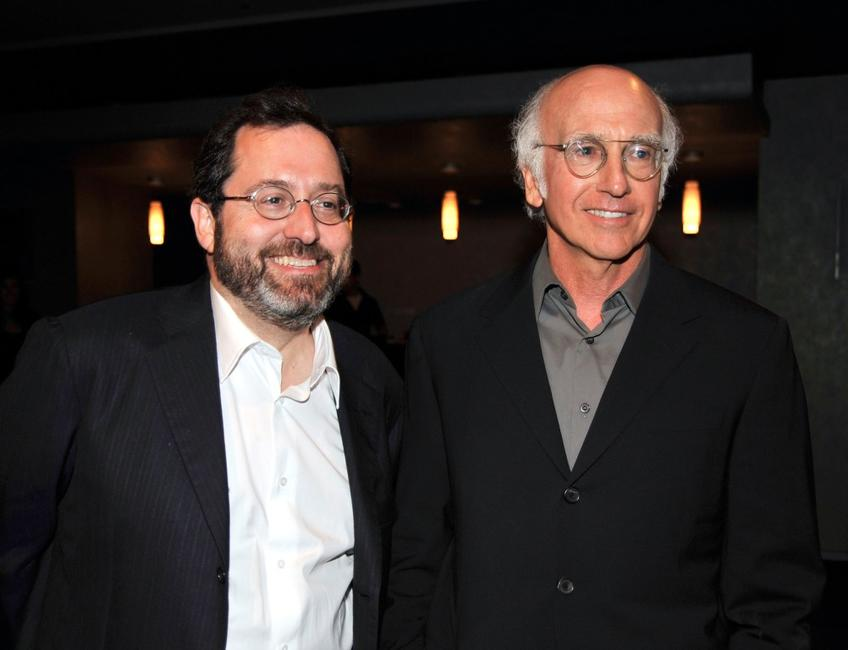 Michael Barker and Larry David at the after party of the California premiere of