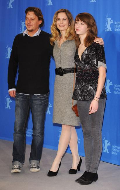 Anders W. Berthelsen, Maria Bonnevie and Sarah Juel Werner at the photocall of