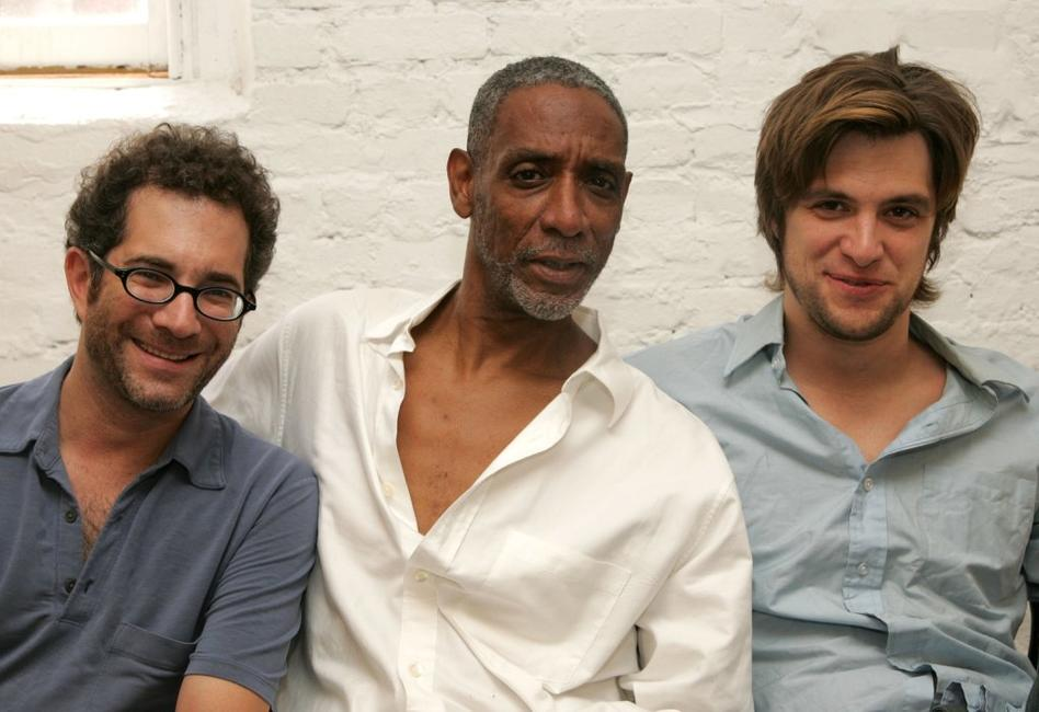 Director Jonathan Silverstein, Thomas Jefferson Byrd and Shane McRae at the rehearsals for the upcoming play