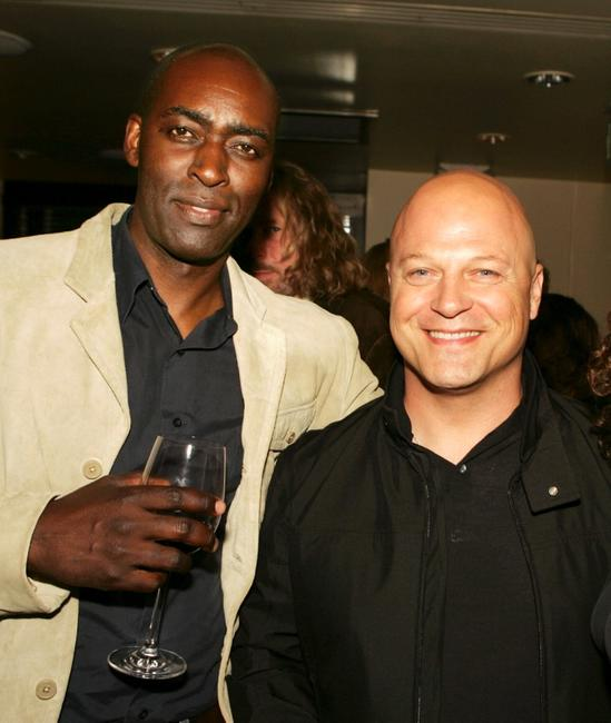 Michael Jace and Michael Chiklis at the after party of the 4th season premiere screening of