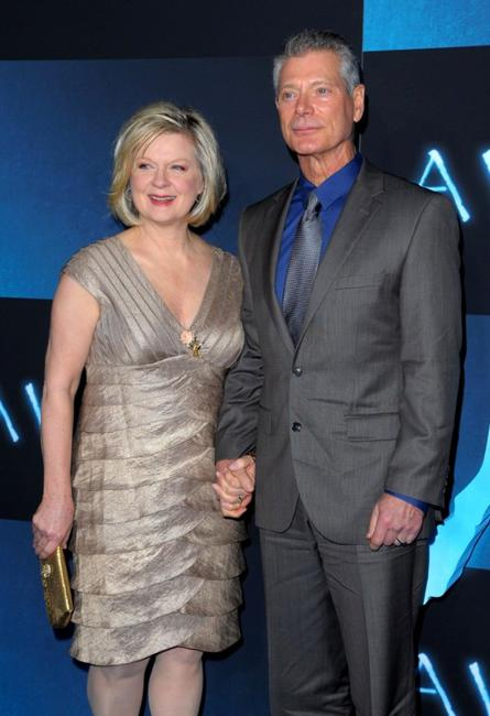 Stephen Lang and Guest at the premiere of