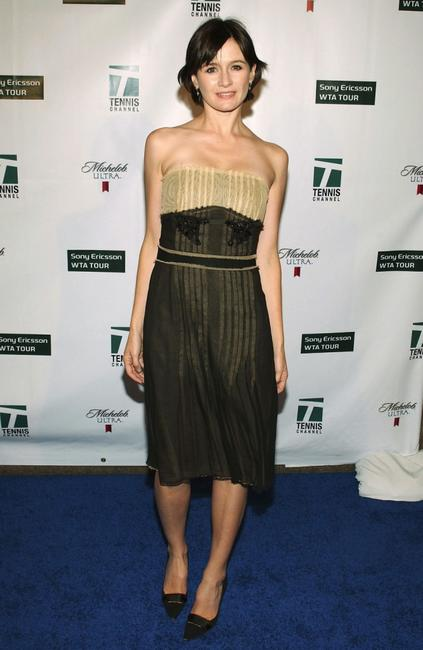 Emily Mortimer at the Glam Slam '05 to celebrate the kickoff of the US Open.