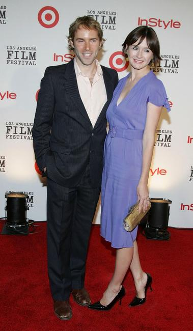 Emily Mortimer and husband Alessandro Nivola at the Los Angeles Film Festival's First Annual Spirit of Independence Award.