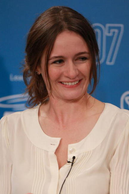 Actress Emily Mortimer at the press conference during the Toronto International Film Festival.