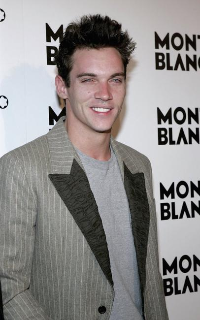Jonathan Rhys-Meyers at an party to celebrate Montblanc's 100th Anniversary.
